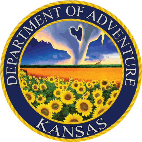 Kansas - Kansas Department of Adventure Sticker