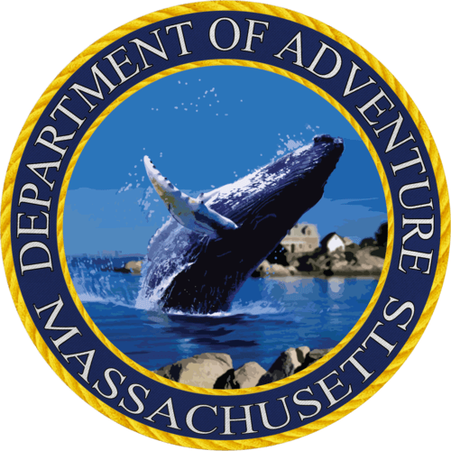 Massachusetts - Massachusetts Department of Adventure Sticker