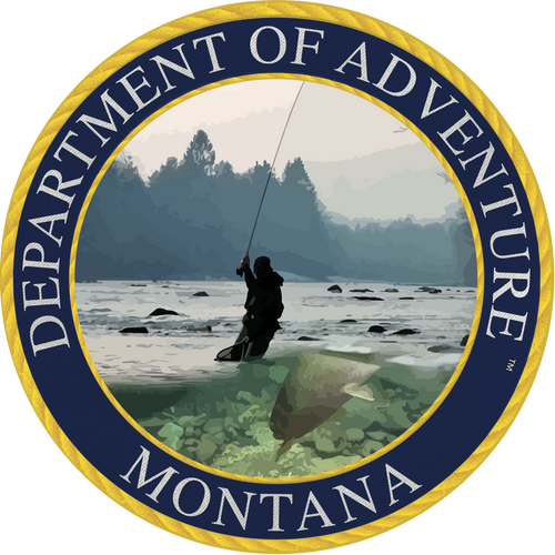 Montana Department of Adventure Sticker - The Heart Sticker Company