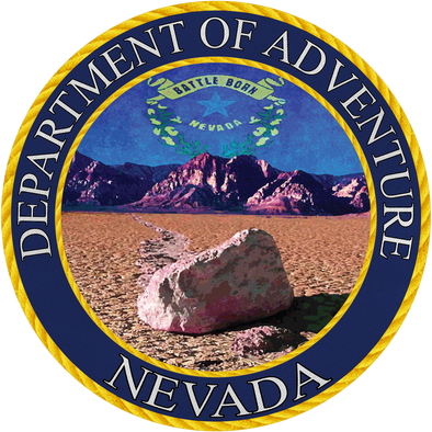 Nevada Department of Adventure Sticker - The Heart Sticker Company