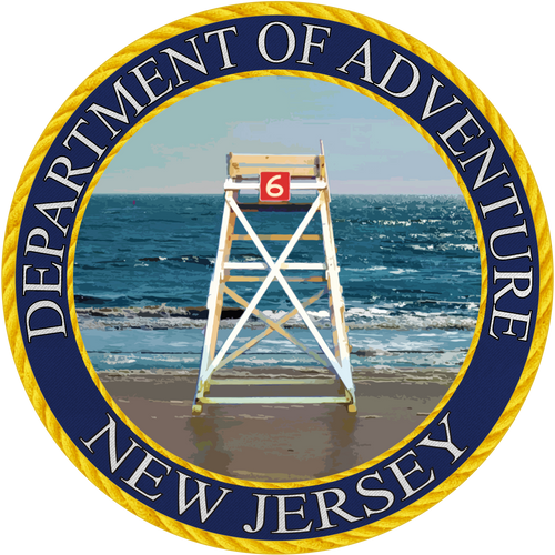 New Jersey Department of Adventure Sticker - The Heart Sticker Company