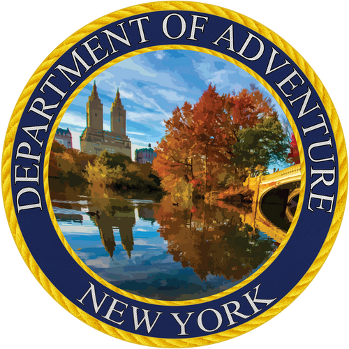 New York Department of Adventure Sticker - The Heart Sticker Company