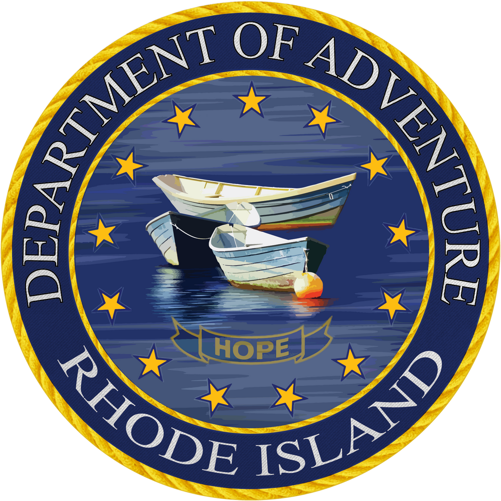 Rhode Island Department of Adventure Sticker - The Heart Sticker Company