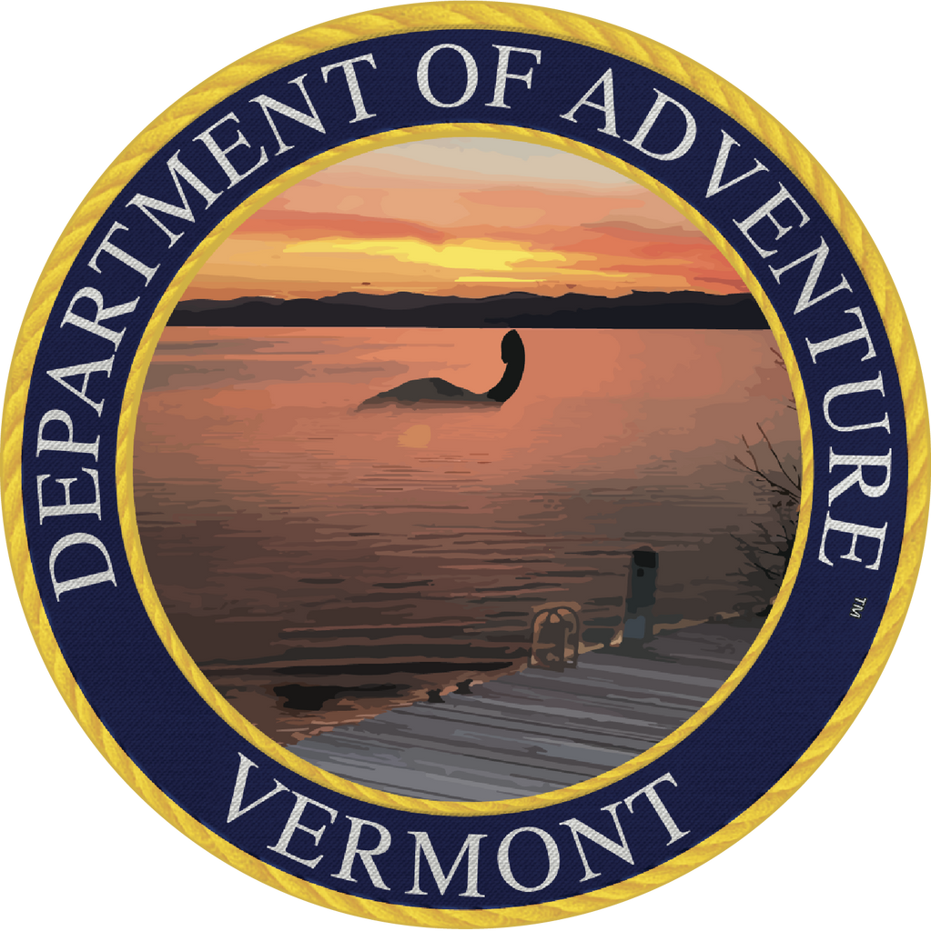 Vermont Department of Adventure Sticker - The Heart Sticker Company