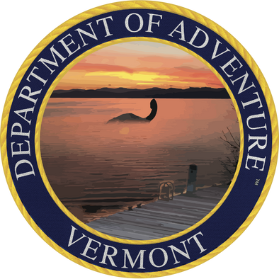 Vermont - Vermont Department of Adventure Sticker - The Heart Sticker Company
