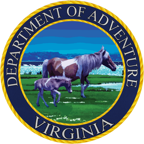 Virginia - Virginia Department of Adventure Sticker - The Heart Sticker Company