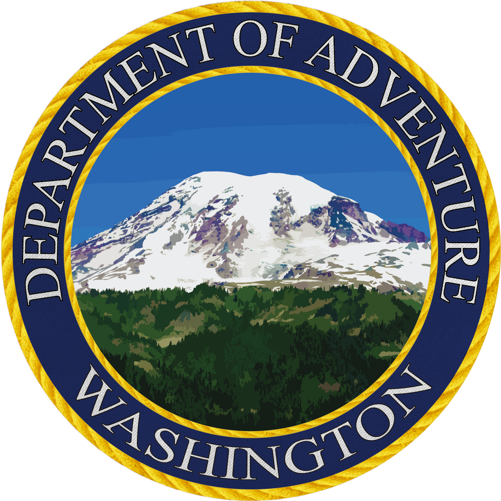 Department of Adventure Washington Sticker