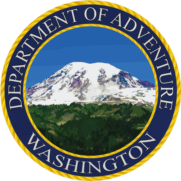 Washington - Department of Adventure Washington Sticker - The Heart Sticker Company