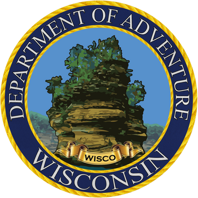 Wisconsin - Wisconsin Department of Adventure Sticker - The Heart Sticker Company