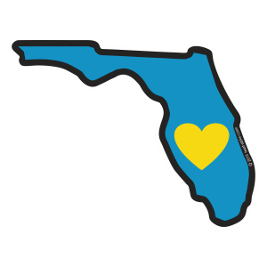 Heart in Florida Sticker - The Heart Sticker Company