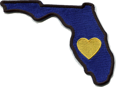 Patch | Heart In Florida | Sticky-Back