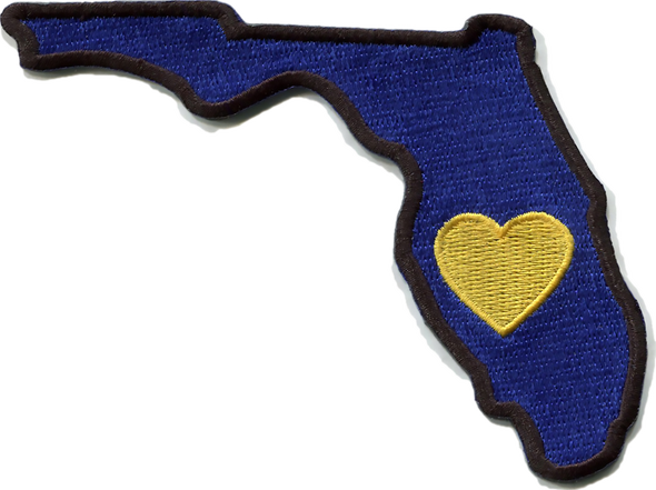 Patch | Heart In Florida | Sticky-Back - The Heart Sticker Company