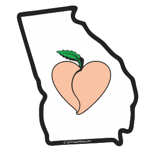 Heart in Georgia Sticker - The Heart Sticker Company