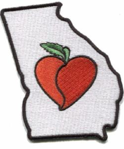 Patch | Heart In Georgia | Sticky-Back - The Heart Sticker Company