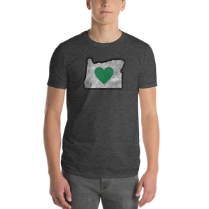 T-Shirt | Heart in Oregon | Men's - The Heart Sticker Company