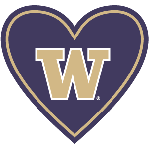 "In My Heart - Washington, ""W"" Sticker"