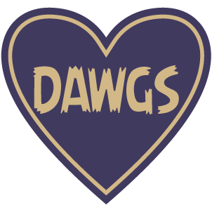 Sticker | Dawgs | In My Heart - The Heart Sticker Company