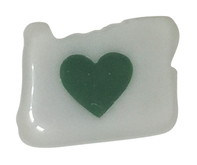 Magnet | Heart in Oregon | Hand Blown Glass - The Heart Sticker Company