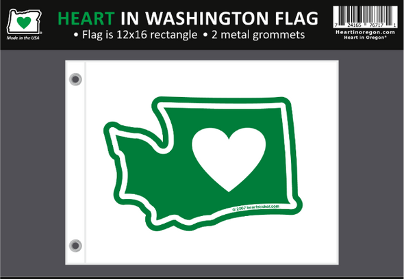 Flag | Heart in Washington | Small - The Heart Sticker Company