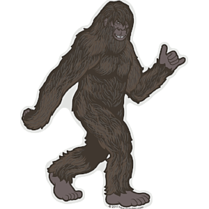Bold Colorful Bigfoot Stroll Sticker - die cut