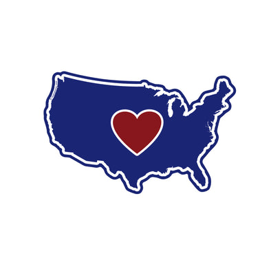 Sticker | Heart in America - The Heart Sticker Company