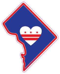 Heart in D.C. Sticker - The Heart Sticker Company