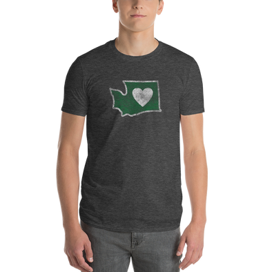 T-Shirt | Heart in Washington | Mens - The Heart Sticker Company