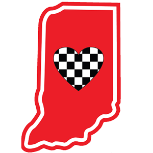 Heart in Indiana Sticker - The Heart Sticker Company