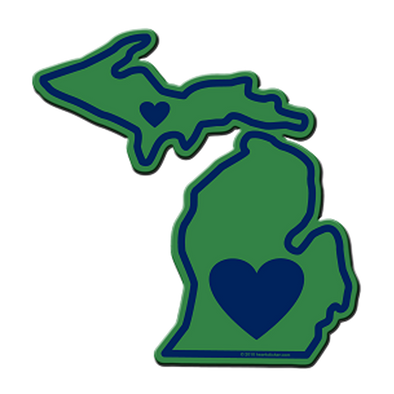 Sticker | Heart in Michigan - The Heart Sticker Company