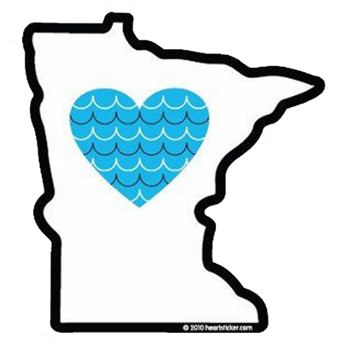 Heart in Minnesota Sticker - The Heart Sticker Company
