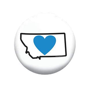 Heart in Montana Button (200-Pack) - The Heart Sticker Company