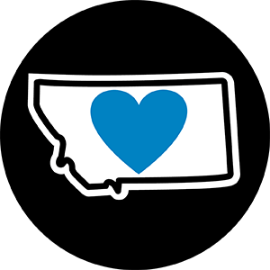 "Magnet | Heart in Montana | 2.25"" - The Heart Sticker Company"