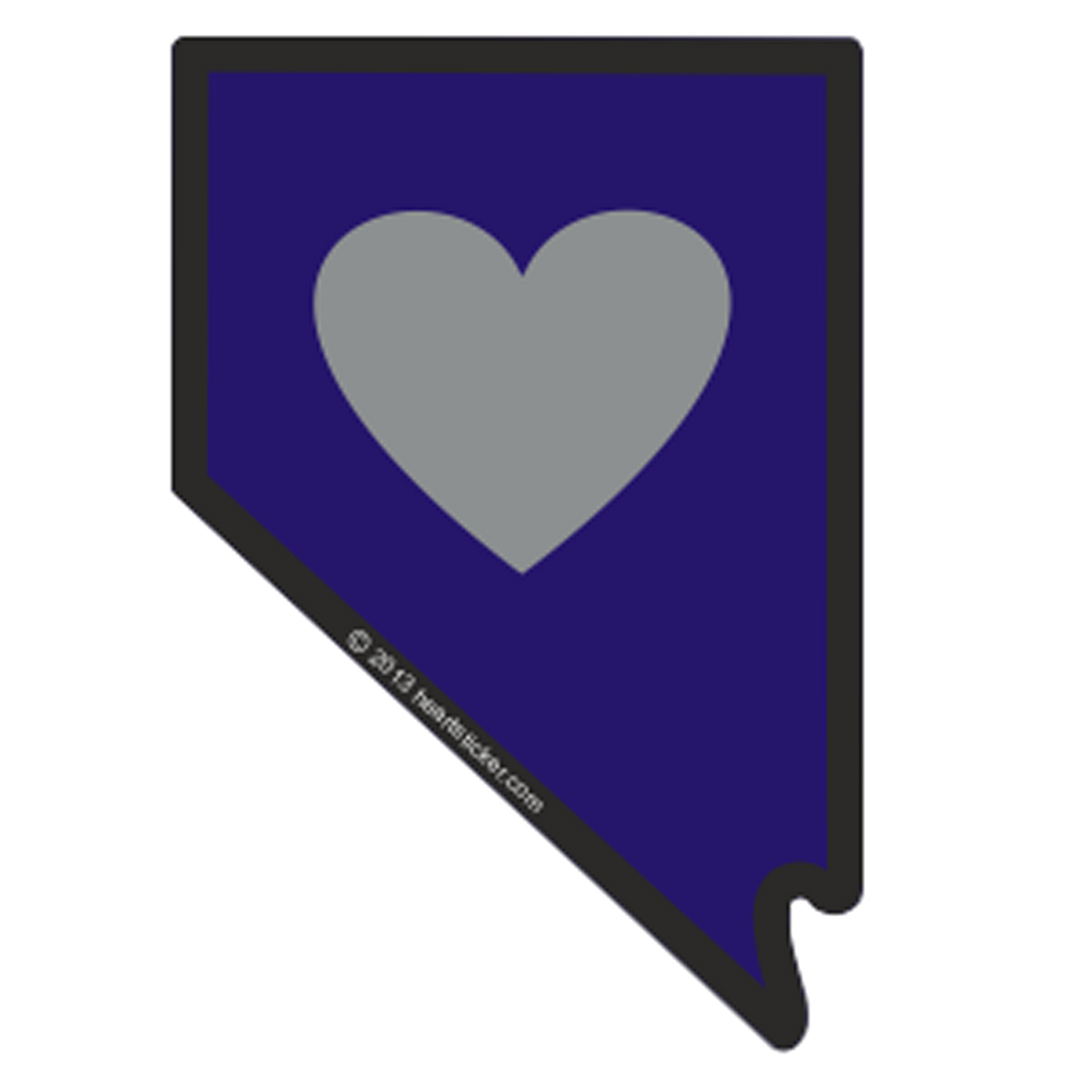 Heart In Nevada Nv Sticker All Weather High Quality Vinyl