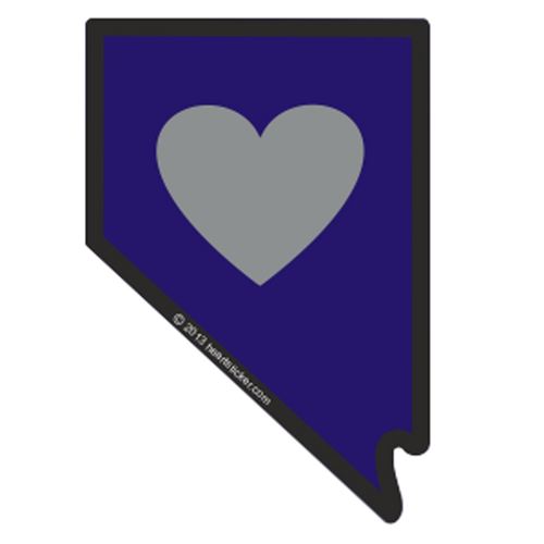 Heart in Nevada Sticker - The Heart Sticker Company