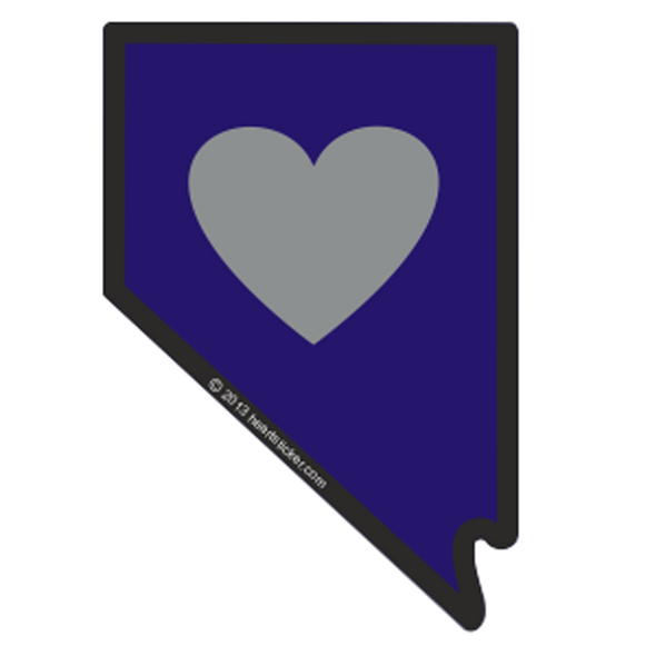 Sticker | Heart in Nevada - The Heart Sticker Company