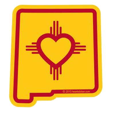 Sticker | Heart in New Mexico - The Heart Sticker Company