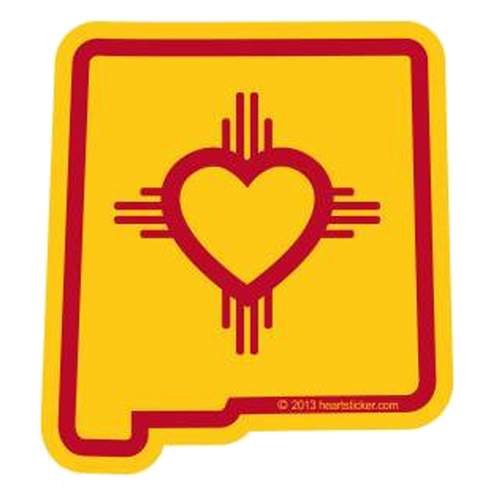 Heart in New Mexico Sticker - The Heart Sticker Company