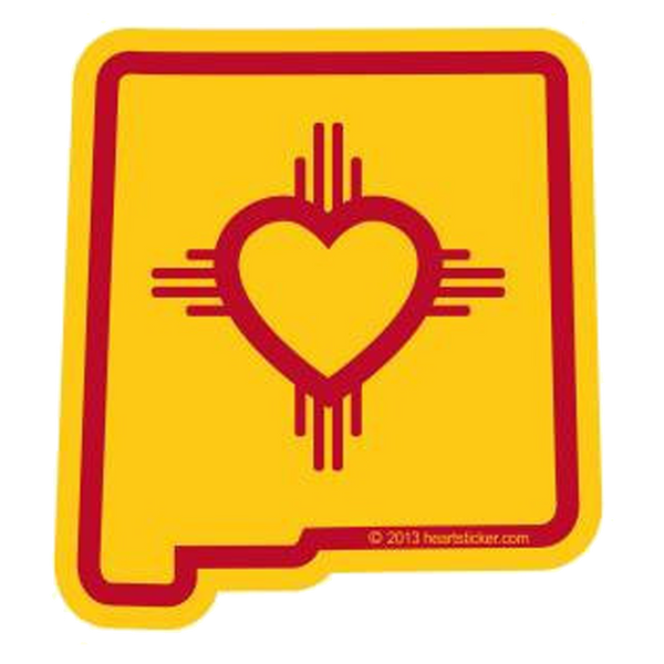 Heart In New Mexico Nm Sticker All Weather High Quality Vinyl Sticker