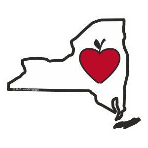 Heart in New York Sticker - The Heart Sticker Company
