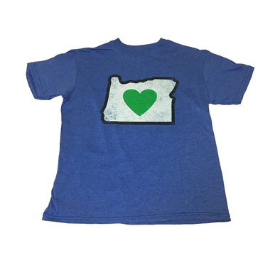 T-Shirts Blue | Heart in Oregon | Kids - The Heart Sticker Company