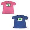 heart in oregon t-shirts blue and pink youth t-shirt