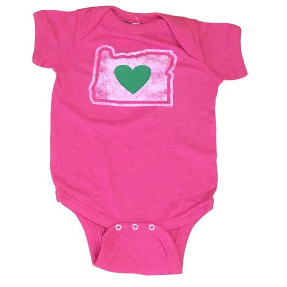 Clothing | Heart in Oregon | Infant Onesie - The Heart Sticker Company