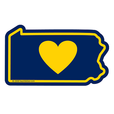 Sticker | Heart in Pennsylvania - The Heart Sticker Company