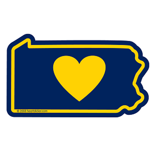 Heart in Pennsylvania Sticker - The Heart Sticker Company