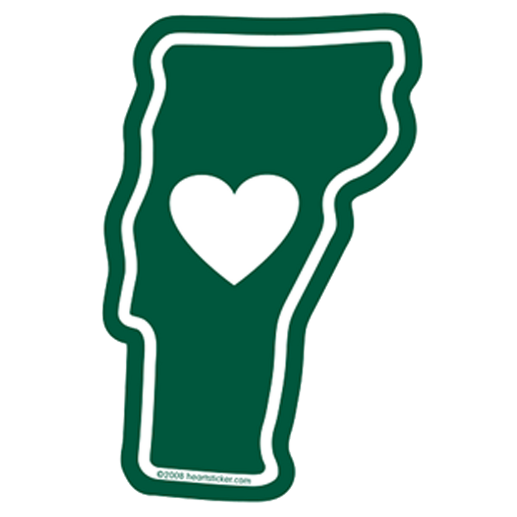 Heart in Vermont Window Cling