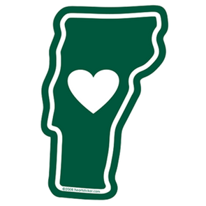 Vermont - Heart in Vermont Static Cling (Removal and Reuse) - The Heart Sticker Company
