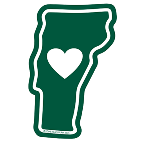 Heart in Vermont Window Cling - The Heart Sticker Company