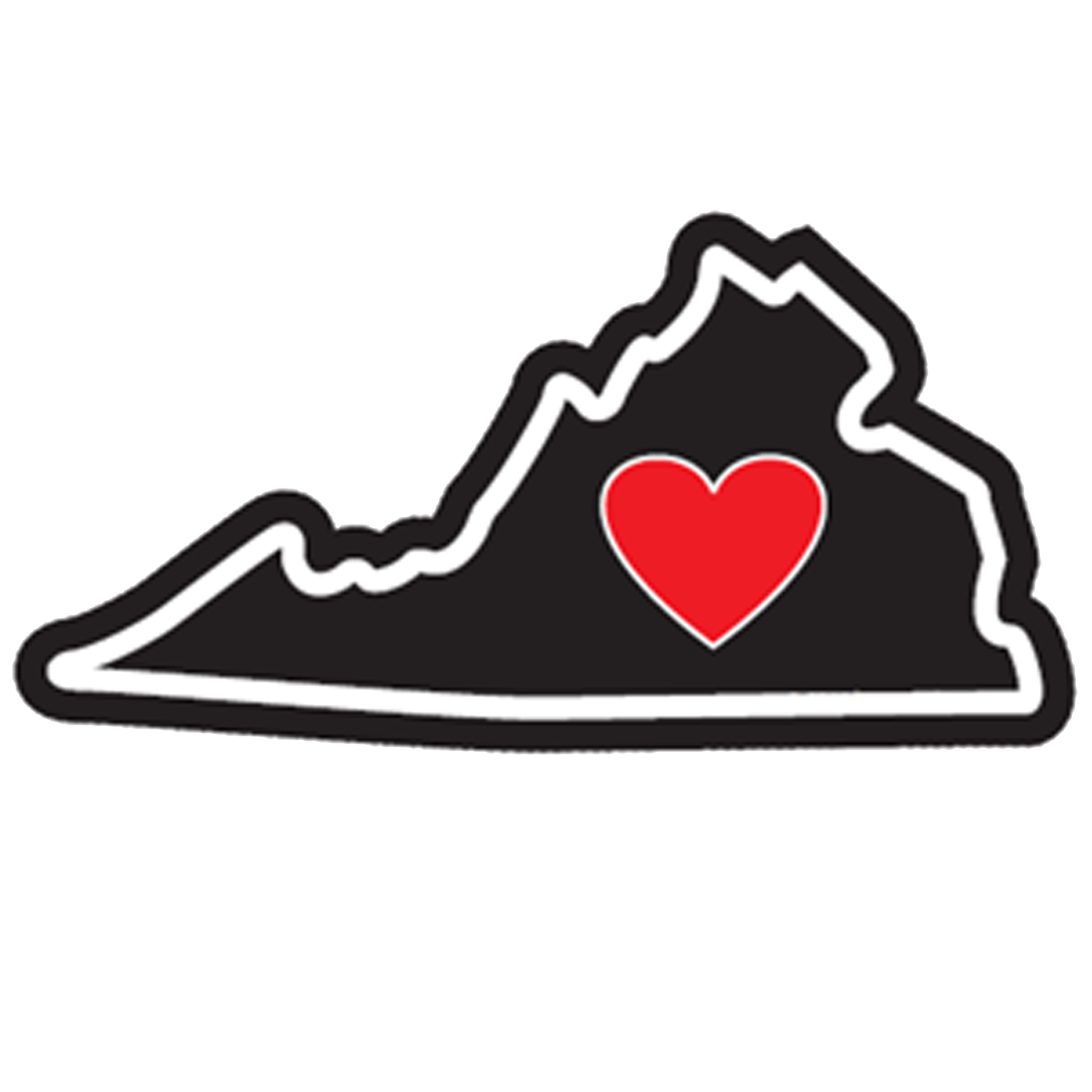 Sticker | Heart In Virginia | Vinyl Decal