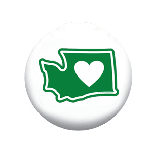 Heart in Washington Button (200-Pack)