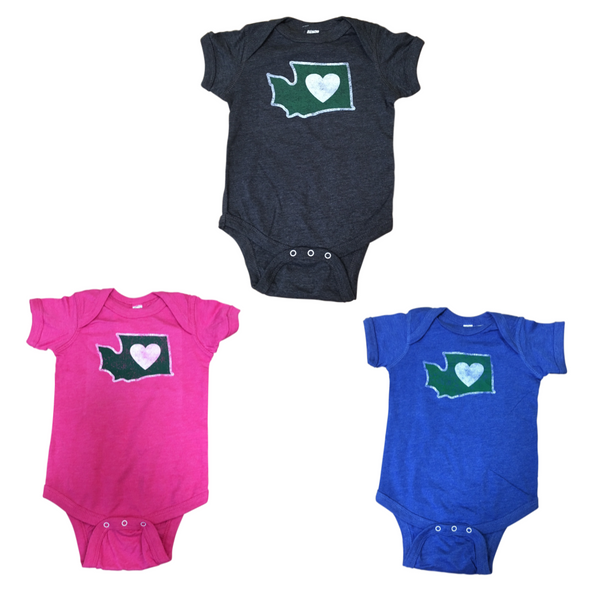 Clothing | Heart in Washington | Onesie - The Heart Sticker Company